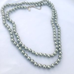 Brand new Kate spade grey pearl necklace
